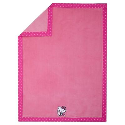 Hello Kitty Cute as a Button Coral Fleece Blanket
