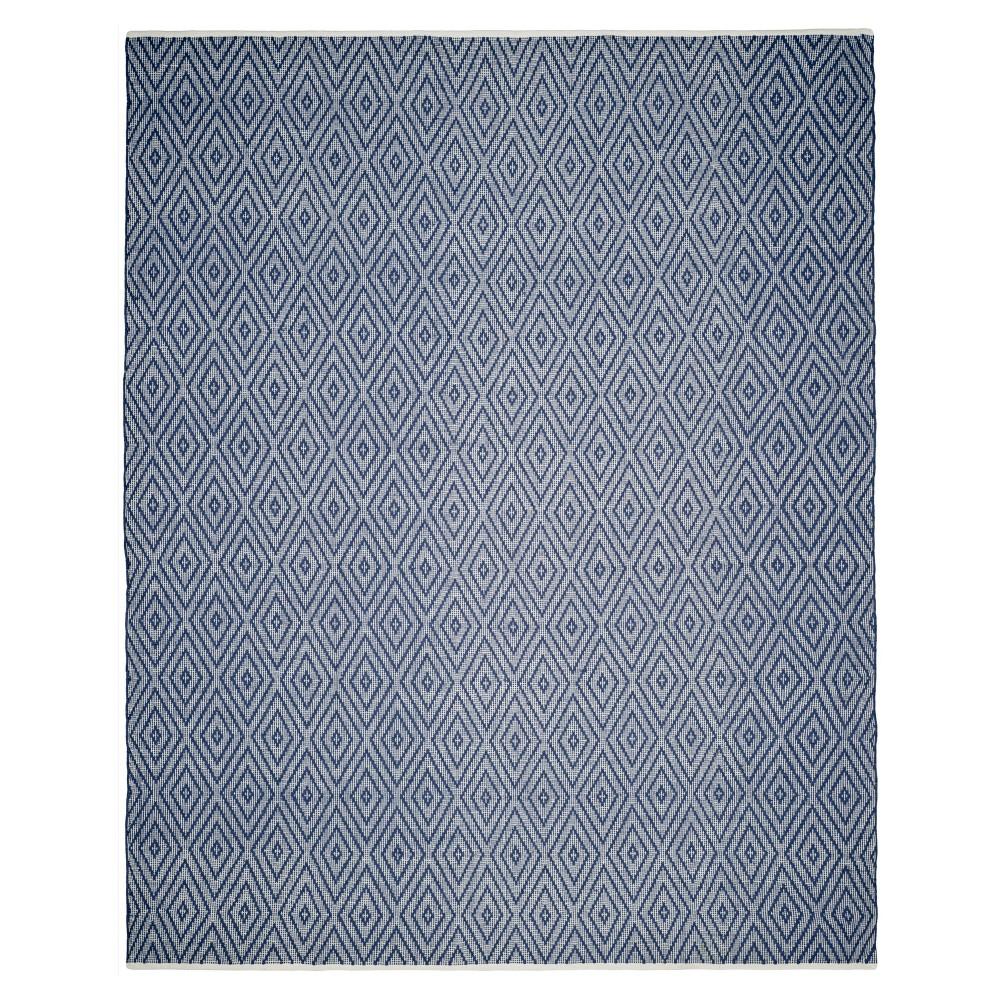Navy/Ivory (Blue/Ivory) Diamond Flatweave Woven Area Rug 8'x10' - Safavieh