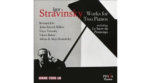 Various - Stravinsky:Works For 2 Pianos (CD) - image 1 of 1