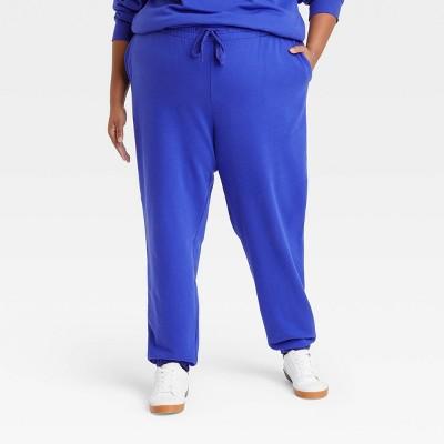 Women's Plus Size Fleece Lounge Jogger Pants - Ava & Viv™