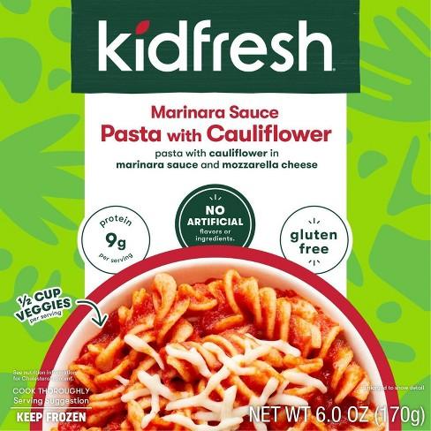 Kidfresh Gluten Free and Vegetarian Frozen Cauliflower Pasta and Marinara - 6oz - image 1 of 3