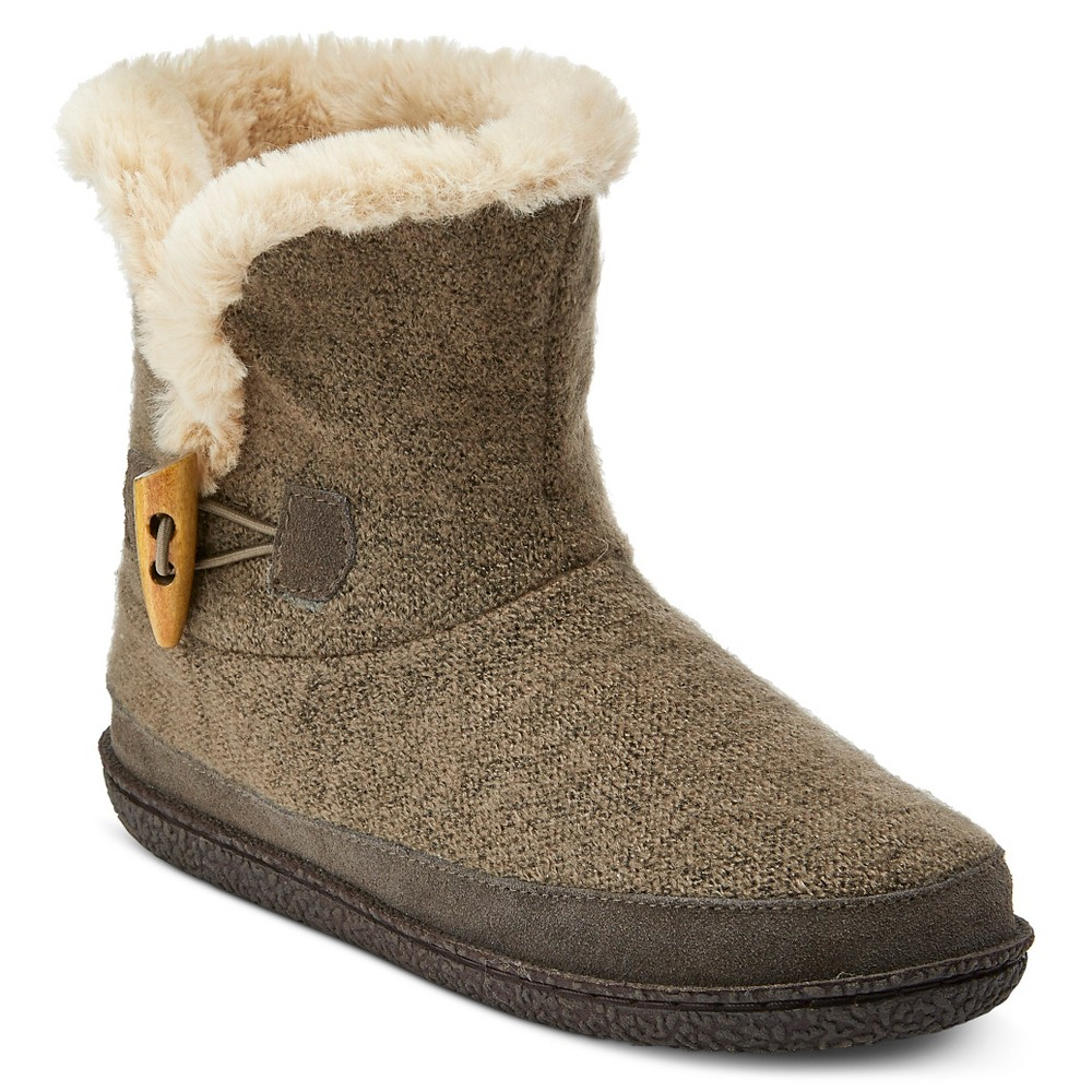 Women's Comfy by Daniel Green Bootie Slippers - Taupe Brown 7