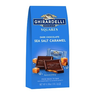 Ghirardelli Dark Sea Salt Caramel Chocolate Squares - 6.38oz