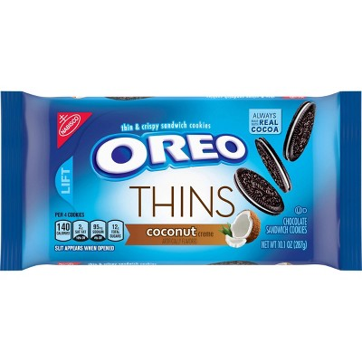 Oreo Thins Coconut Creme Chocolate Sandwich Cookies - 10.1oz