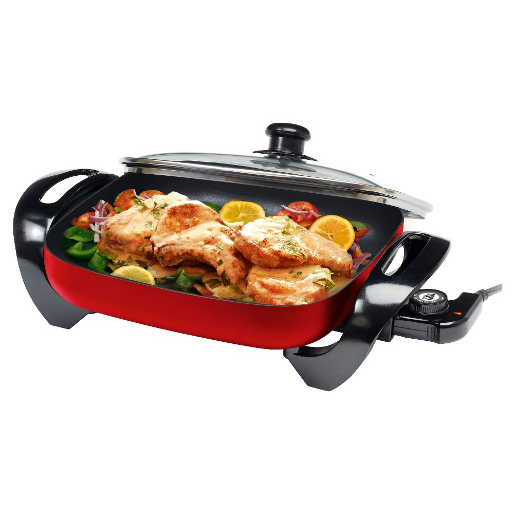 Elite Gourmet Electric Skillet – Red EG-1220GR 47851043