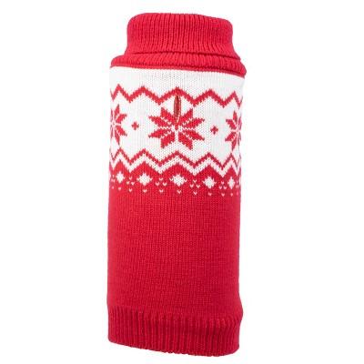 The Worthy Dog Fairisle Snowflake Turtleneck Pullover Sweater