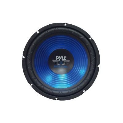 Pyle PLW10BL 10 Inch 600 Watt 4 Ohm Impedance Car Audio Stereo Sound System Power Subwoofer Speaker with 1.5 Inch High Temp Kapton Voice Coil, Blue