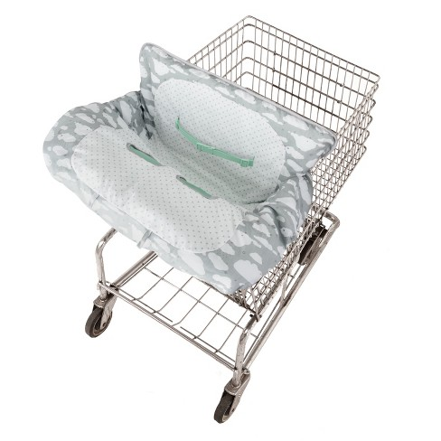 GO by Goldbug Clouds Reversible Shopping Cart Cover - image 1 of 6