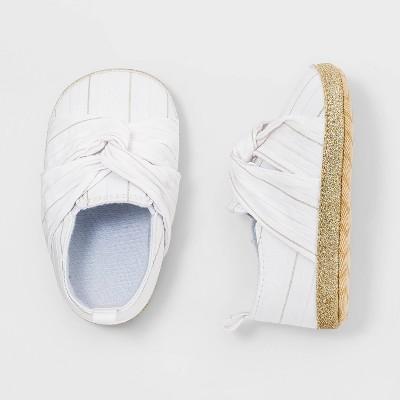Baby Girls' Bow Slip On Shoes - Cat & Jack™ White 0-3M