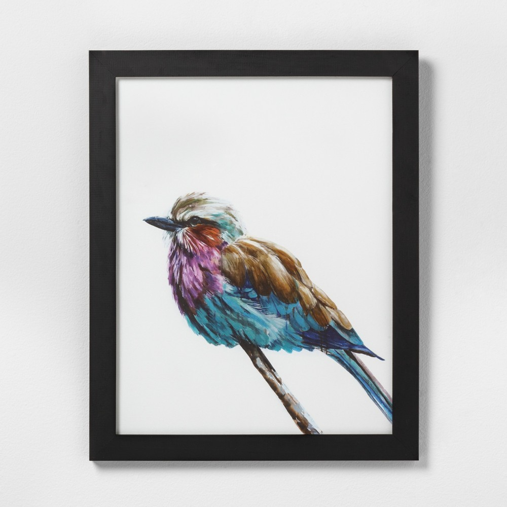 """Image of """"16"""""""" X 20"""""""" Colorful Bird Wall Art with Black Wood Frame - Hearth & Hand with Magnolia, Adult Unisex"""""""