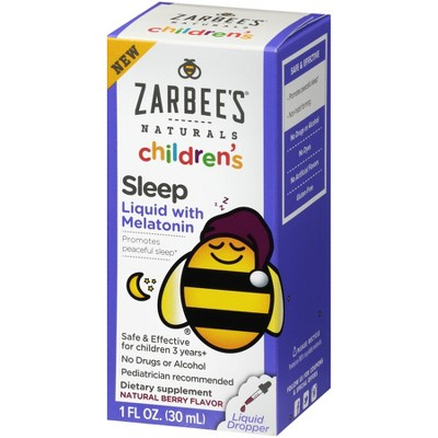 Zarbee's Naturals Children's Sleep Liquid with Melatonin - 1 fl oz
