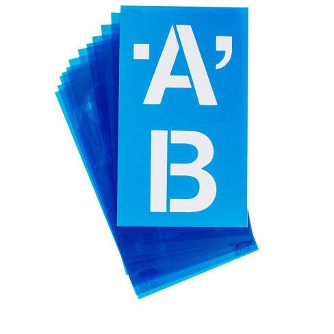 Westcott Plastic Die-Cut Capital Letter Stencil, 4 Inches, Clear Blue - image 1 of 1