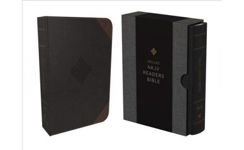 Holy Bible : New King James Version, Black Leathersoft, Deluxe Reader's Bible -  (Paperback) - image 1 of 1