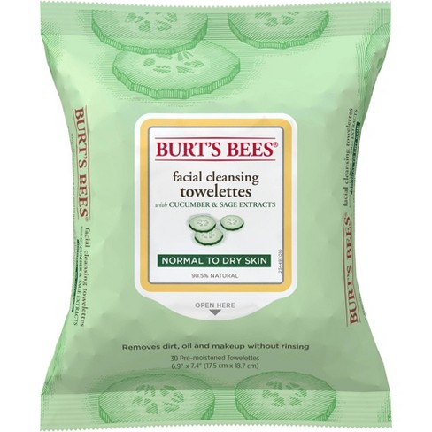 Burt's Bees Facial Cleansing Towelettes - 30 ct - image 1 of 4