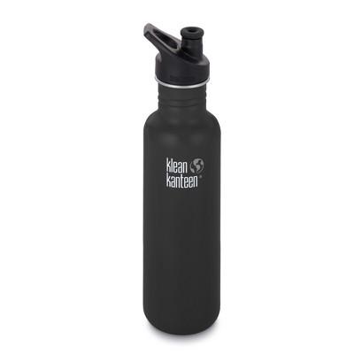 Klean Kanteen 27oz Classic Bottle with Loop Cap - Shale Black