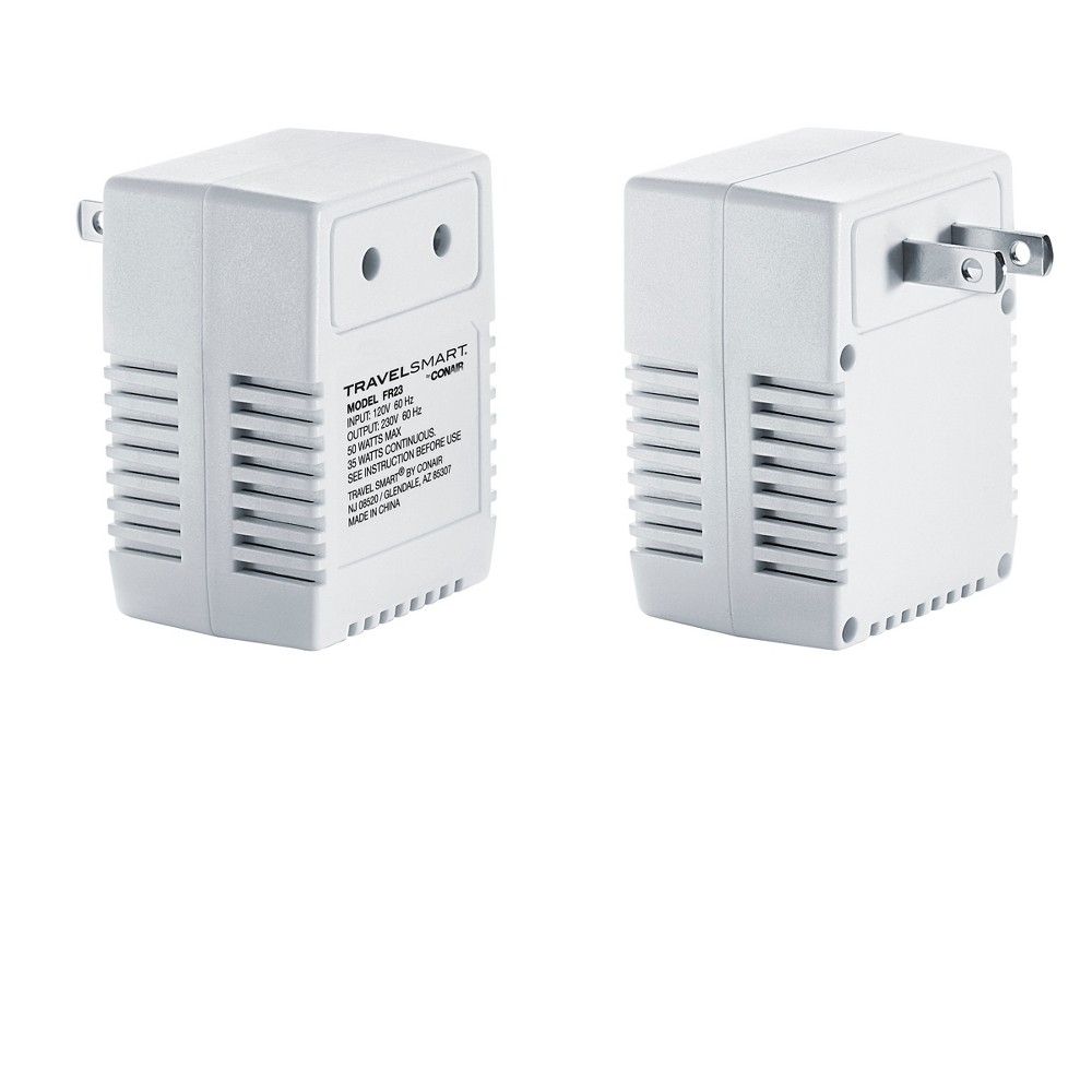 This transformer can be used in the U.S. with 0?50 watt 220/240V electrical products and personal electronics by allowing 220/240V appliances to work on 110/120V U.S. electricity. It\\\'s safe for battery chargers, cell phones, smartphones, MP3 players, electric shavers and other devices up to 50 watts. It\\\'s designed for long-term use/charge with appliances rated at 0?35 watts, and intermittent use on most foreign appliances rated at 31?50 watts. Its thermal fuse provides temperature protection, which helps prevent overheating, to keep your devices safe. About Travel Smart: Travel Smart continues to serve the world?s growing number of travelers with all the basic comforts and connectors they need for international travel. New high-tech devices require new high-tech converters and adapters and Travel Smart is keeping up with the demand. Travelers can count on Travel Smart for all the essential gadgets and gear they need for ever-evolving laptops and mobile devices; they can also count on Travel Smart products to make their journey comfortable!