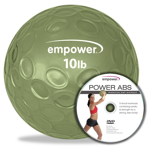 Empower™ 10 lbs. Fingertip Grip Medicine Ball with DVD - image 1 of 4