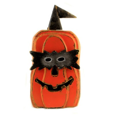 "Halloween 22.75"" Cut Out Face Wooden Pumpkin Jack O Lantern Mask Spooky  -  Decorative Figurines"