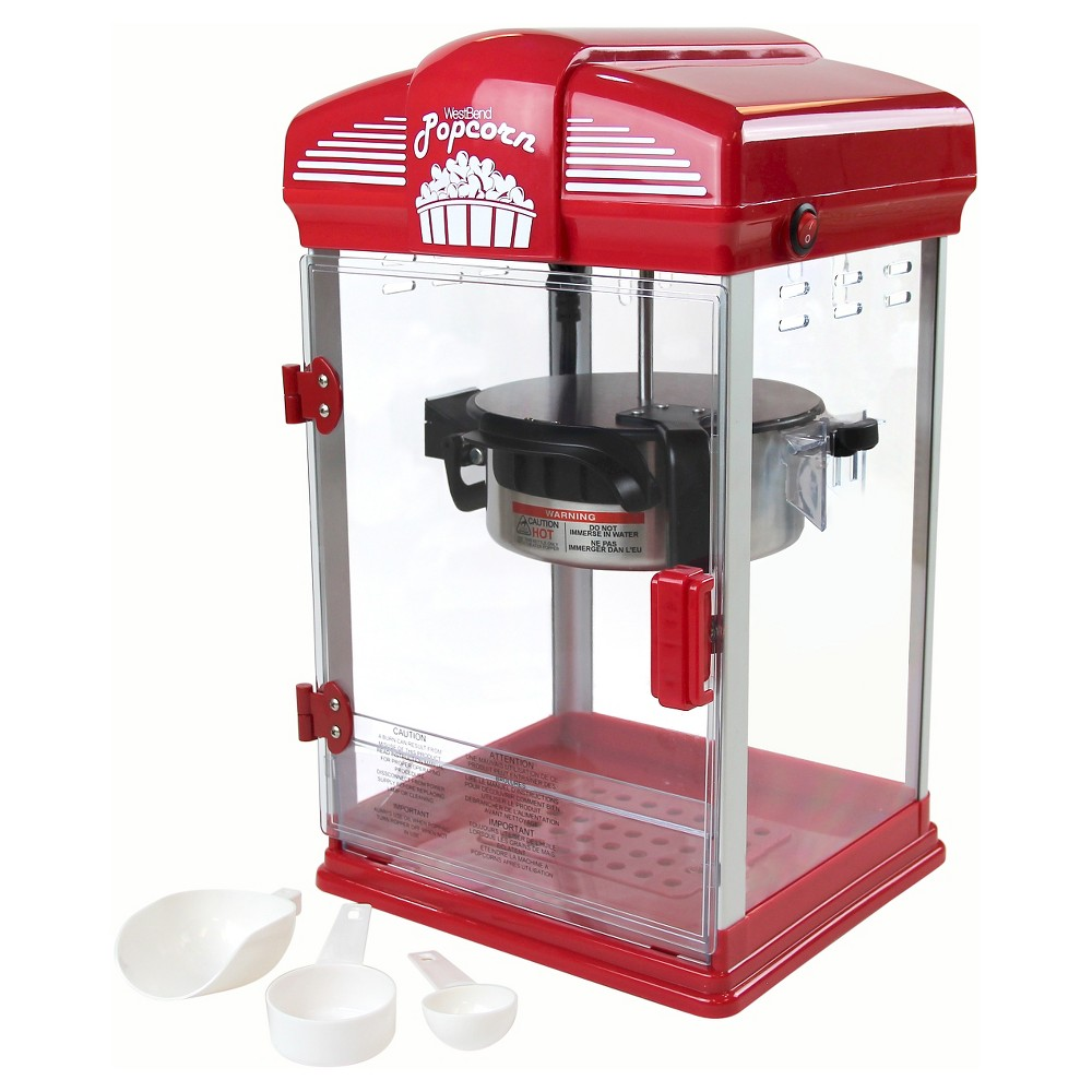 Image of West Bend Theater Crazy Popcorn Machine, Red