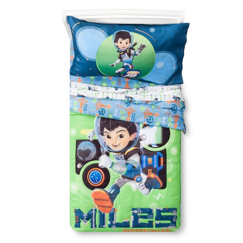 Miles from Tomorrowland Green & Blue Bedding Set (Toddler) 4pc - image 1 of 4