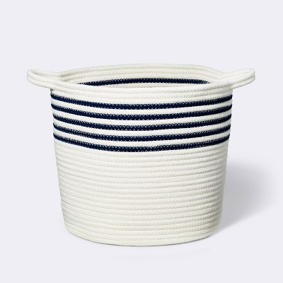 Coiled Rope Bin with Color Band - Cloud Island™