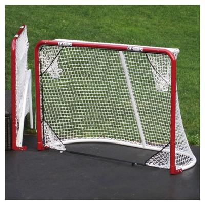 EZ Goal Folding Metal Hockey Goal with Targets - 6'x4'