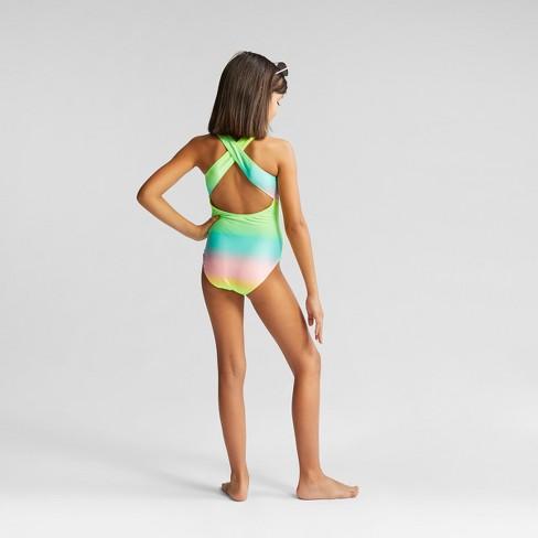 c95b8e38efd Girls' Pineapple Vibe One Piece Swimsuit - Cat & Jack™ : Target