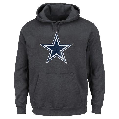 finest selection c406c 80589 Dallas Cowboys Men's Big & Tall Team Logo Fleece Pullover Hoodie Sweatshirt  - 4XL Tall