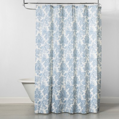 Floral Shower Curtain Blue/Off-White - Threshold™
