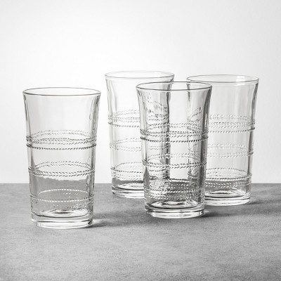 4pk Embossed Glass Drinkware Tall - Hearth & Hand™ with Magnolia