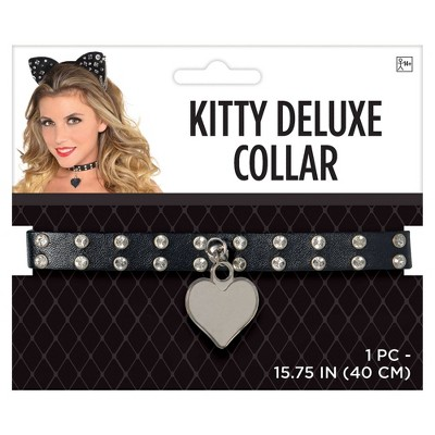 Adult Collar Fancy Kitty Deluxe Accessories Halloween Costume