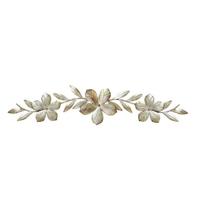 "8"" x 38"" Flower Over the Door Wall Décor Champagne - Stratton Home Décor"
