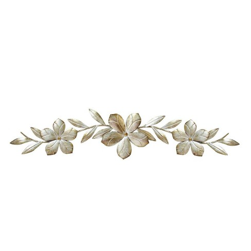 8 X 38 Flower Over The Door Wall Decor Champagne Stratton Home Target