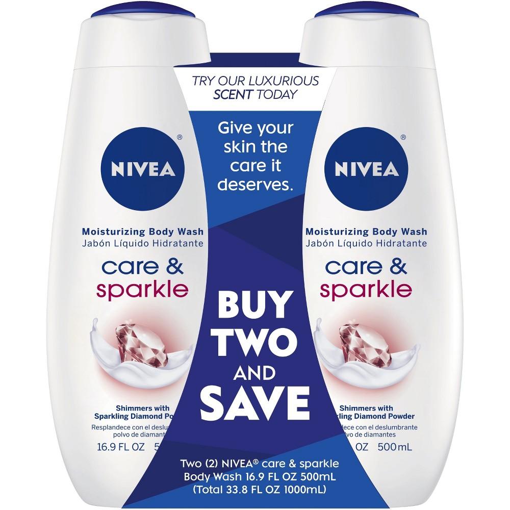 Image of Nivea Care & Sparkle Body Wash Dual Pack - 33.8 fl oz