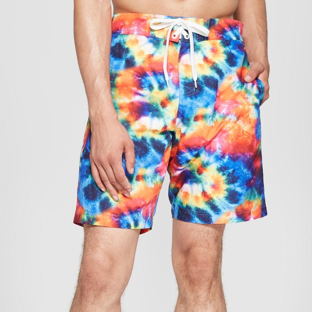 Men's 9.5 Board Shorts - Rainbow M, Multicolored