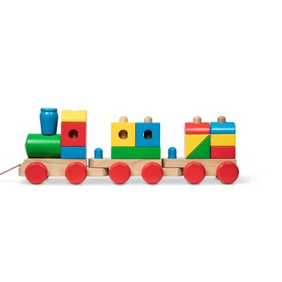 Melissa & Doug Wooden Jumbo Stacking Train - Classic