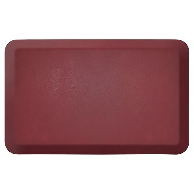 Newlife By Gelpro Comfort Kitchen Mat - Leather Grain Cranberry - 20 X32