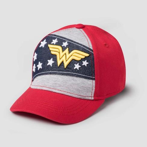Kids  DC Comics Wonder Woman Baseball Cap - Red   Target d5297dd2b02