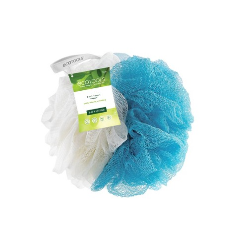 EcoTools EcoNet Blue and Cream 2-in-1 Pouf - image 1 of 3