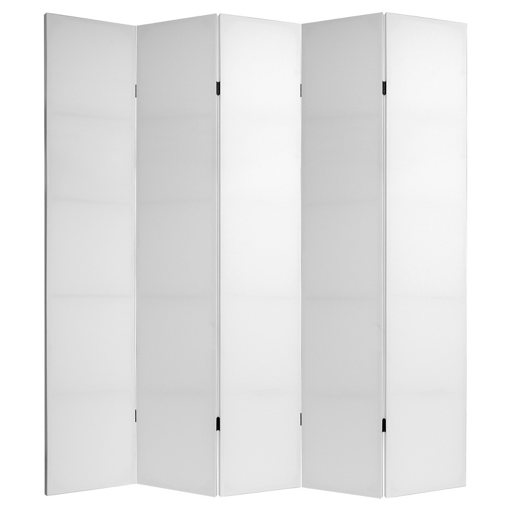Do It Yourself 5 Panel Room Divider Canvas - Oriental Furniture, White