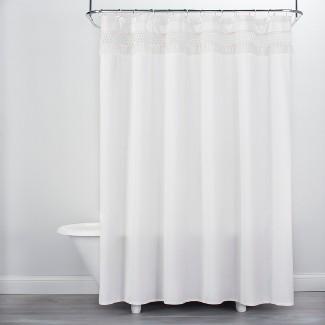 Macramé Shower Curtain Cream - Opalhouse™