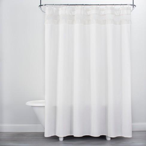 Macram Shower Curtain Cream