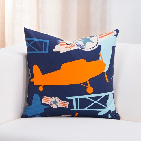 "20"" Take Flight Accent Throw Pillow With Sham Navy - Crayola - image 1 of 1"