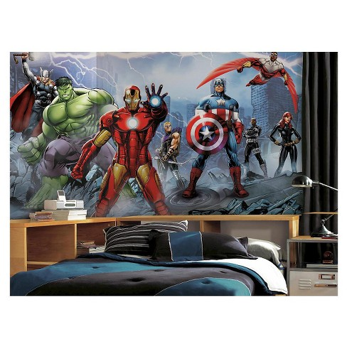 RoomMates Avengers Assemble Mural 6' x 10.5' - Ultra-strippable - image 1 of 2