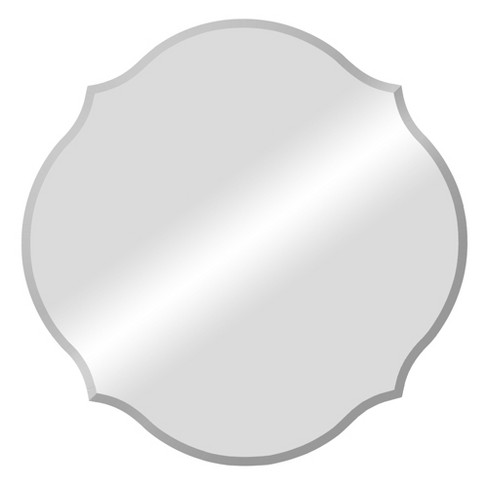 """20""""x20"""" Frameless Beveled Scalloped Decorative Wall Mirror Clear - Patton Wall Decor - image 1 of 4"""