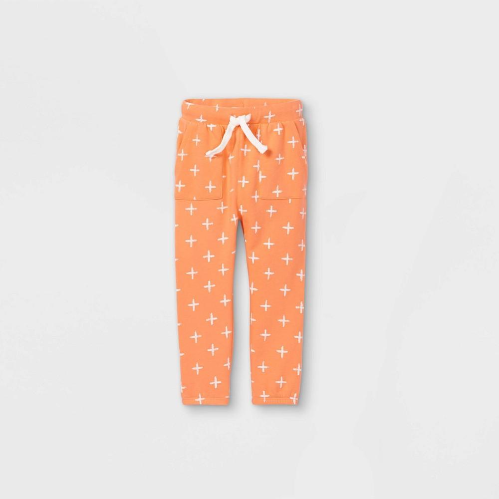 Toddler Boys 39 Printed Pocket Sweatpants Art Class 8482 Orange 2t