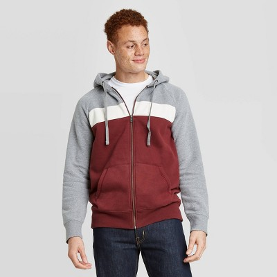 Men's Regular Fit Full-Zip Fleece Hoodie - Goodfellow & Co™ Red