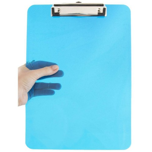 "JAM Paper 9"" x 12 1/2"" Plastic Clipboards with Low Profile Metal Clip - Letter Size - image 1 of 4"
