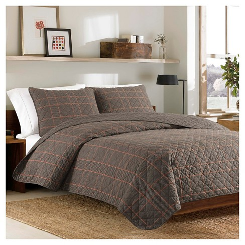 Inglewood Quilt And Sham Set (Twin) Black - Eddie Bauer® - image 1 of 3