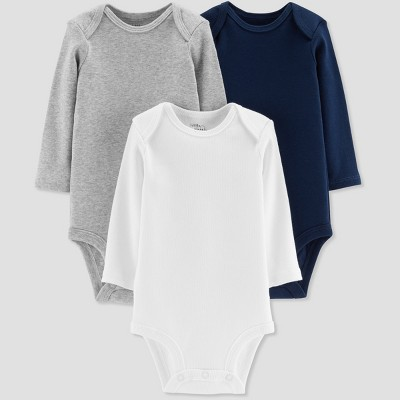Baby Boys' 3pk Bodysuit - Little Planet by Carter's Navy/White/Gray 3M
